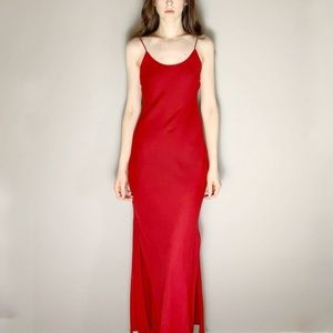 Vintage early 2000s red open back dress